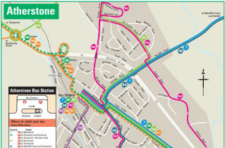 Download Atherstone bus routes map