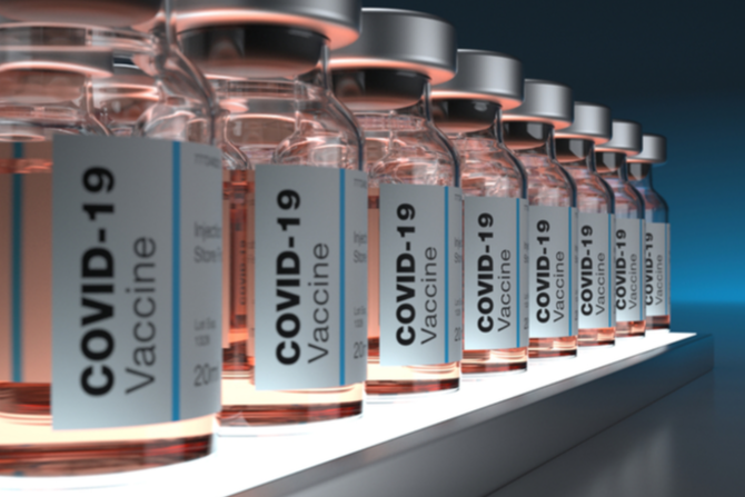Bottles of Covid-19 vaccinations