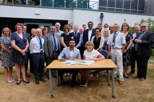 Health and Wellbeing Concordat being signed
