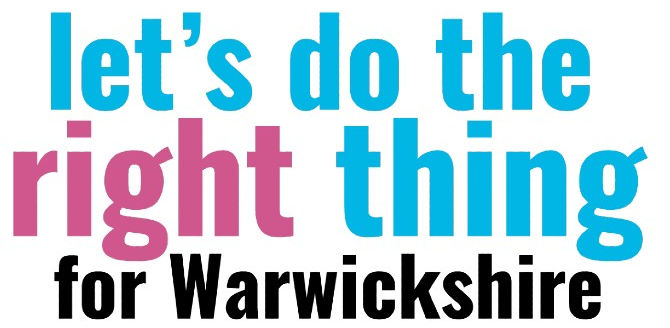 Let's do the right thing for Warwickshire logo