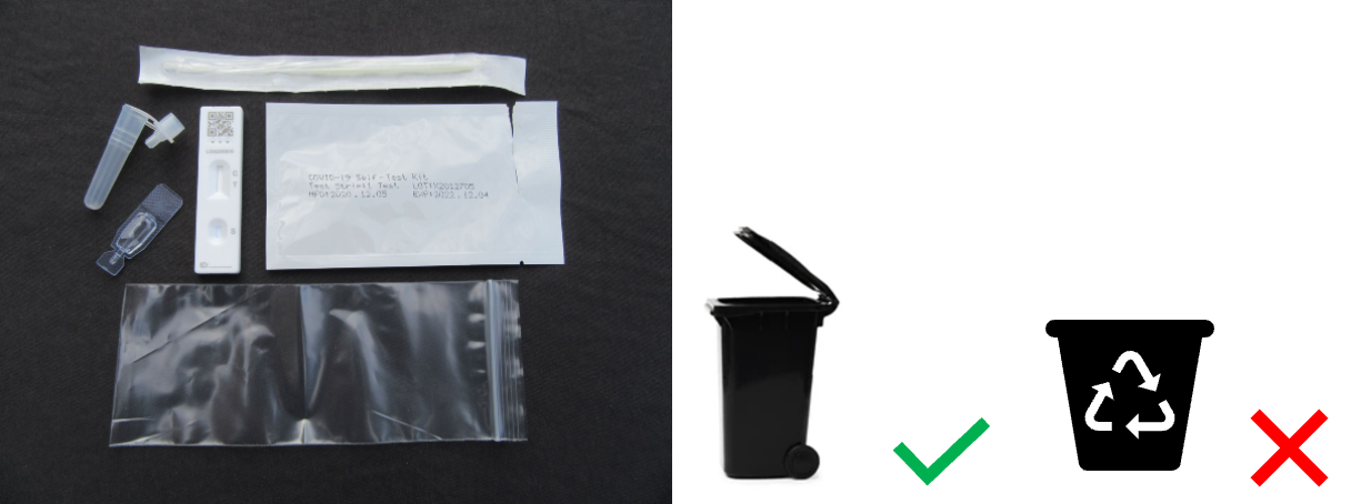 Plastic packaging non recyclable - dispose in general waste bin