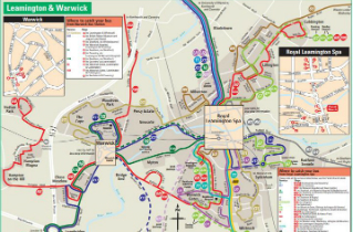 Download Leamington Spa bus routes map