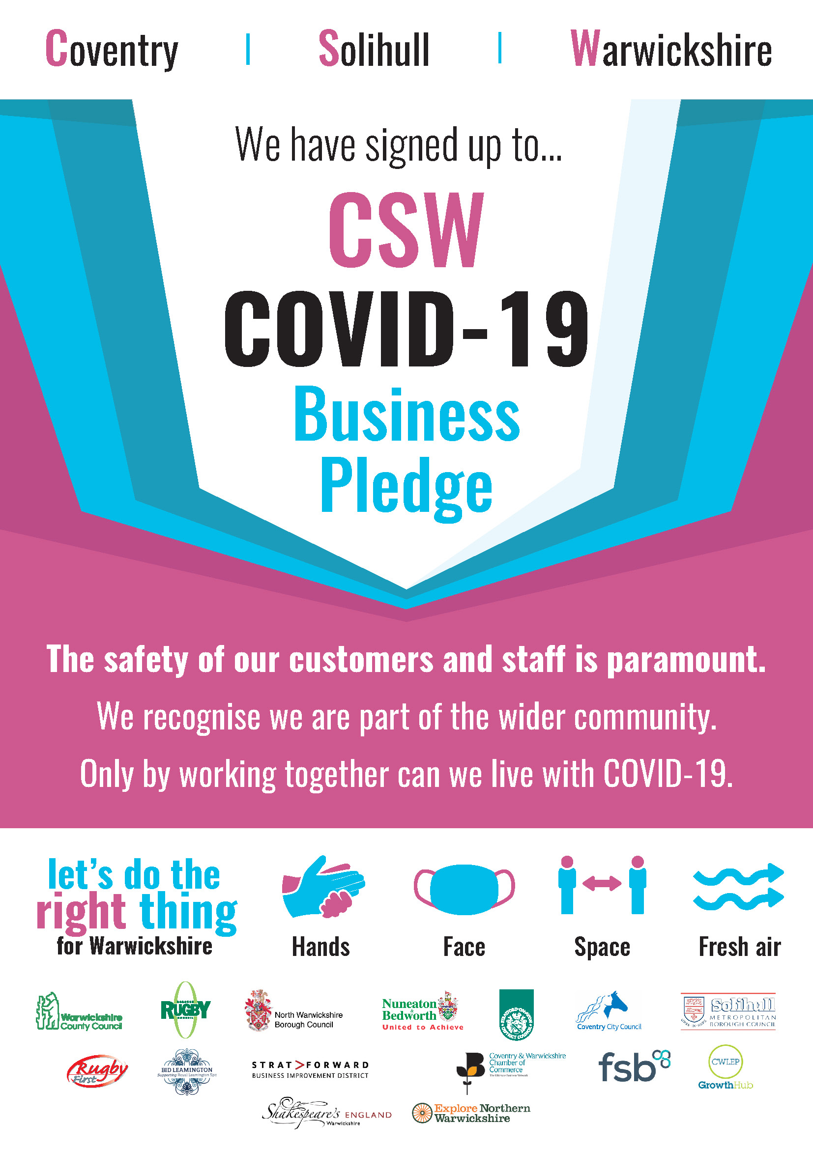 NEW Business Pledge CSW Warwickshire Poster