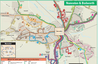 Download Nuneaton bus routes map