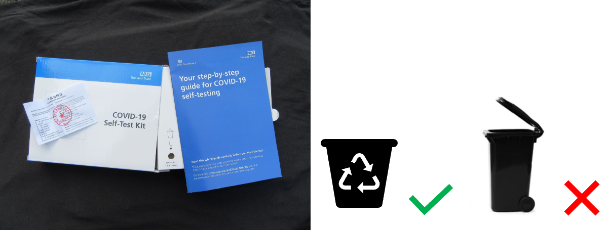 Cardboard packaging and paper to be recycled - do not put in general waste bin