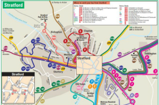 Download Stratford bus routes map