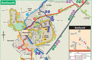 Download Kenilworth bus routes map
